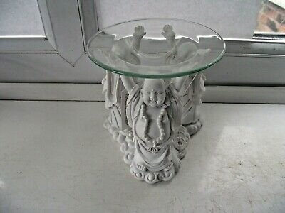 Oil Burner Lucky Happy Buddah Design Excellent Never Used See Pictures