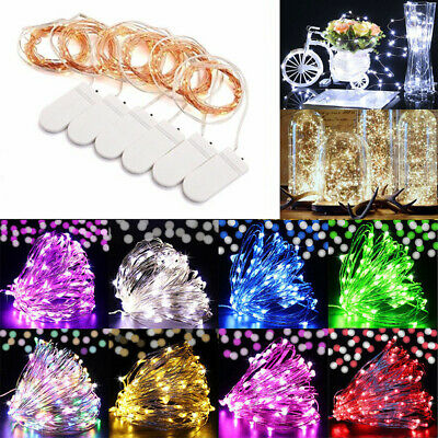 6/10Pack 20LED Battery Micro Rice Wire Copper Fairy String Lights Party Decor 2M