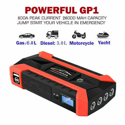 89800mAh 600A Heavy Duty USB Car Jump Starter Booster Power Bank Battery Charger