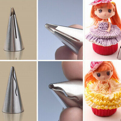 5 PCS Russian Tulip Icing Piping Nozzles Stainless Steel Pastry Cake Decor Tools