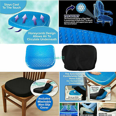 Breathable Egg Sitting Gel Flex Cushion Seat Sitter Flexing Pillow Back Support