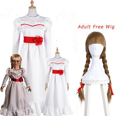 The Conjuring Annabelle Cosplay Costume Adult / Kids Halloween Fancy Dress Skirt