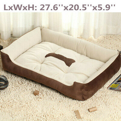 Large Pet Bed Dog Cat Cushion Nest Puppy Soft Warm House Kennel Mat for Autum US