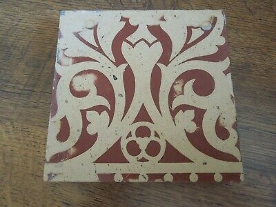 Rare Minton Encaustic Floor Tile - St Stephen's Hall. 1850's - Barry & Pugin