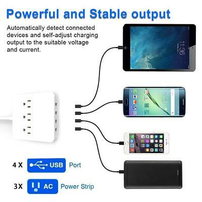 For US Standard Wall Mounted Socket Power Strip With USB Certified By FCC & Rohs