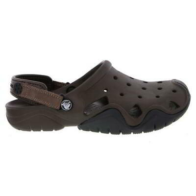 Crocs Swiftwater Clog Mens Brown Slip On Sandals Shoes Size 7-12