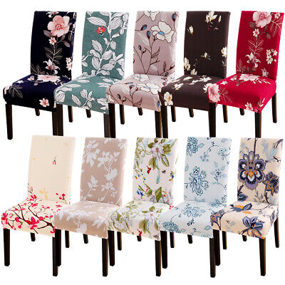 New Printing Pattern Dining Room Chair Cover Removable Washable Stretch Cover AU