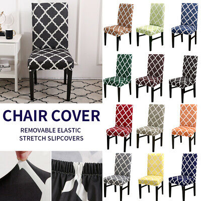 Stretch Dining Chair Cover Removable Slipcover Home Banquet Furniture Covers AU
