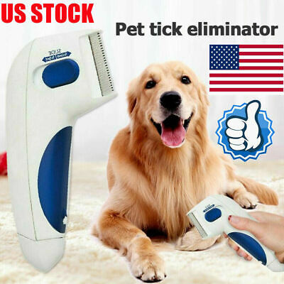 Flea Comb Electric Comb Great for Dogs & amp Cats Pet Brush Anti Tick Control