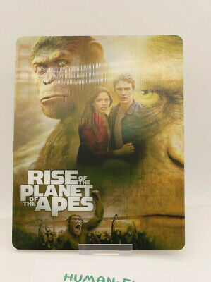 RISE OF THE PLANET OF THE APES - Lenticular 3D Flip Magnet Cover FOR steelbook