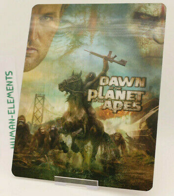 DAWN OF THE PLANET OF THE APES - Lenticular 3D Flip Magnet Cover FOR steelbook