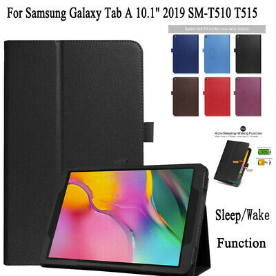 PU+Leather Auto Sleep Case Cover For Samsung Galaxy Tab A 10.1 2019 SM-T510 T515