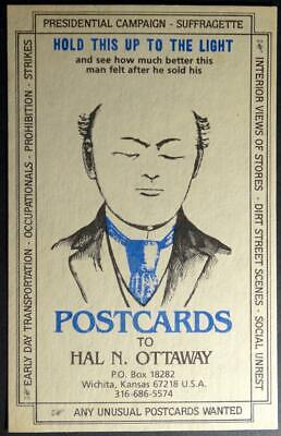 Postcard - HTL - Hold To Light Cards Wanted by Hal N. Ottaway, Kansas Limited Ed