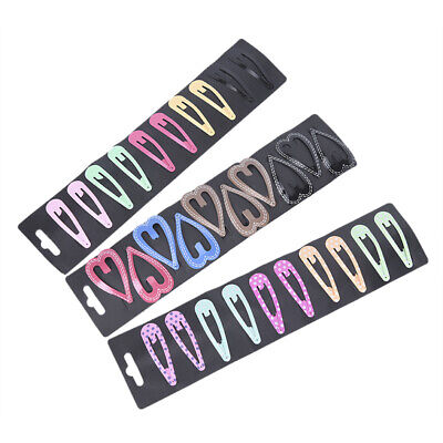 10pcs/set Cute Candy Color Girl Hairpin BB Snap Hair Clips For Kids Styling T sa