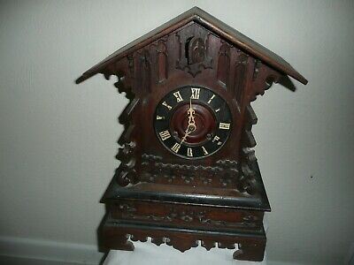 Antique, Cuckoo Mantle Clock With Fusee Movement, Circa 1800s, For Restoration.