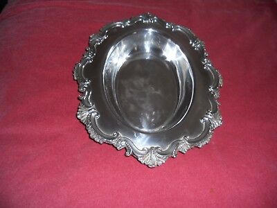 Superb Vintage silver plated marked EPBN oval SERVING DISH/TRAY decorative edge