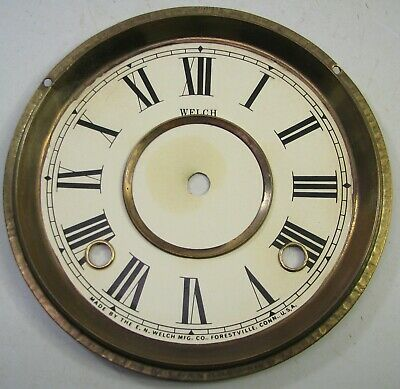 Antique En Welch Kitchen Clock Dial Parts Repair