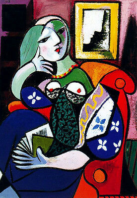 PABLO PICASSO  *  QUALITY CANVAS PRINT * Women With Book 1932