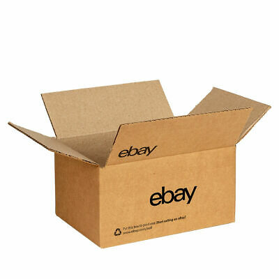 """Lot of 2 x 25 NEW EDITION eBay-Branded Boxes With Black Color Logo 6"""" x 4"""" x 4"""""""