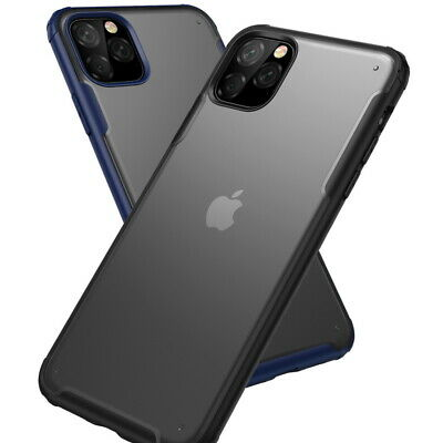 For iPhone 11 Pro Max Xs XR 8 7 Plus Shockproof Clear Rubber Hybrid Hard PC Case