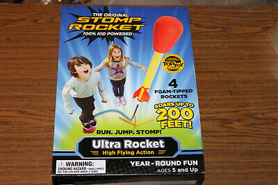 Soars Up to 50 Ft Poof Blasteroid Rocket Launcher Powerful Air-Action