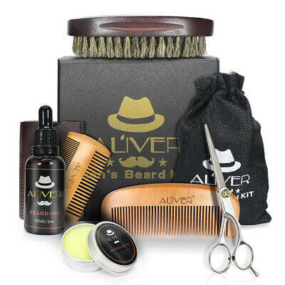 Beard Grooming & Trimming Kit for Men Care - Beard Oil & Balm Beard Comb & Brush