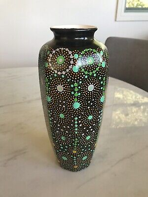 Aboriginal dot painted vase - Keringke Arts Aboriginal Arts - Vase- RRP $550