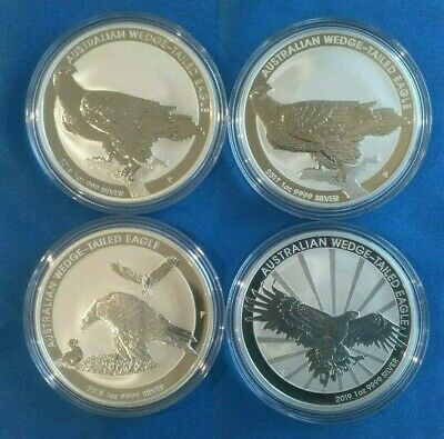 2016 to 2019 Wedge Tailed Eagle1 oz Silver Coins
