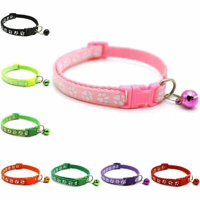 Pet Dog Cat Nylon Necklace Neck Strap Puppy Buckle Bell Collar Belt T