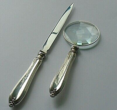 George Wish Sheffield 1916 HM Silver Handle Mag Glass & Letter Opener
