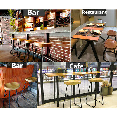 Pub Bar Wooden Stool Vintage Rustic Chair Kitchen Industrial Counter Barstools❤