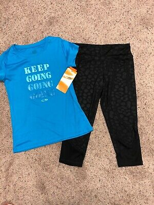 EUC/ Nwt 2 Pc Girls Active Wear Outfit, 7:8/8/10