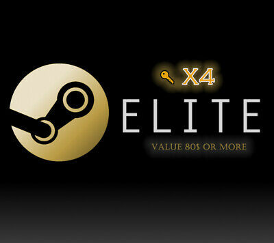 x4 Random Steam Golden 👑 ELITE KEYS 🔑🔑 Region Free Value 80$ Or more 💯