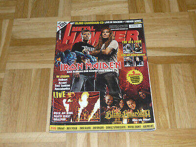 METAL HAMMER August 2010 +CD Iron Maiden BLIND GUARDIAN Grave ENSLAVED Kamelot