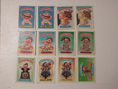 1985 Garbage Pail Kids Series 2 - Lot of 59. Most glossy. Matte Schizo Fran gpk