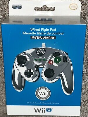 PDP Wired Fight Pad for Nintendo Wii U - Metal Mario (085-006) BRAND NEW Genuine