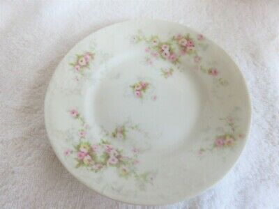 2 Theodore Haviland Limoges Schleiger 149 Bread Butter Plates Pink Roses