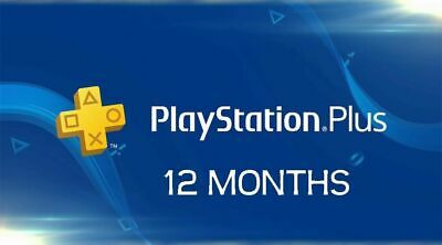 Ps Plus 12 Month PlayStation PS4-PS3 -Vita [ NO CODE ]