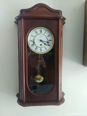 Vintage hermle wind up westminster chimes wall clock