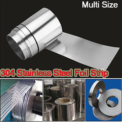 304 Stainless Steel Foil Sheet Metal Plate Thick 0.005mm-0.4mm Strip Panel 1/5M
