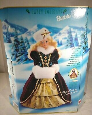 Happy Holidays Barbie Special Edition 1996 NIB Blonde Hair Factory Sealed