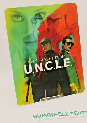 THE MAN FROM UNCLE- Lenticular 3D Flip Magnet Cover FOR bluray steelbook