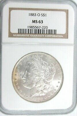 1883 O Morgan Silver Dollar NGC MS63 Light Toning [220] T2