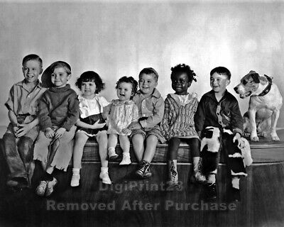 """The Little Rascals """"Our Gang"""" - Alfalfa, Spanky, Darla & others - 8x10 Photo"""
