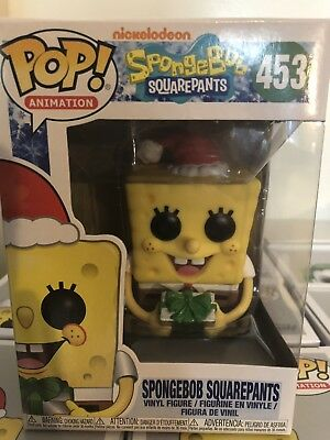 Funko Pop Animation #453 Spongebob Squarepants Holiday Christmas Free Shipping