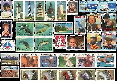 US #2439//2515,C127 MNH 1990 commemorative year set of 35 stamps