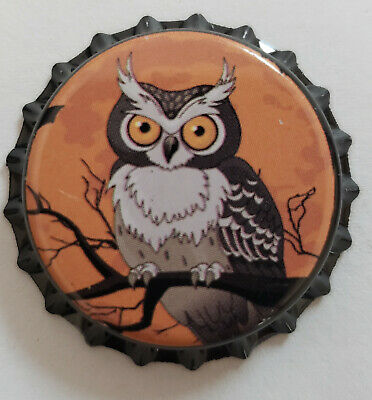 100 Orange Owl Home Brew Beer Bottle Crown Caps Halloween