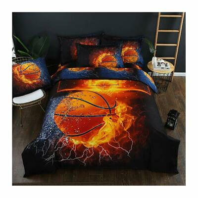 3D Sports Bedding Set for Teen Boys Duvet Cover Sets with Pillowcases Twin Queen