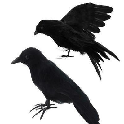 Halloween Artificial Crow Black Bird Raven Prop Scary Decoration 1Pc For Party