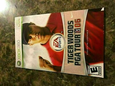 Tiger Woods Pga Tour 06 2006 - Xbox 360 - Instruction Manual Only